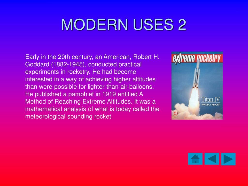 MODERN USES 2