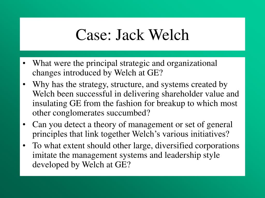 Case: Jack Welch