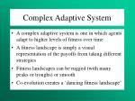 complex adaptive system