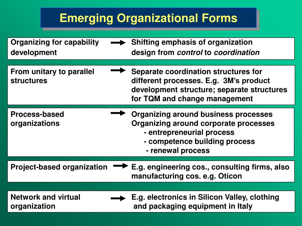Emerging Organizational Forms