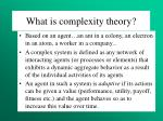 what is complexity theory