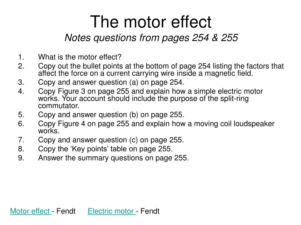 The motor effect
