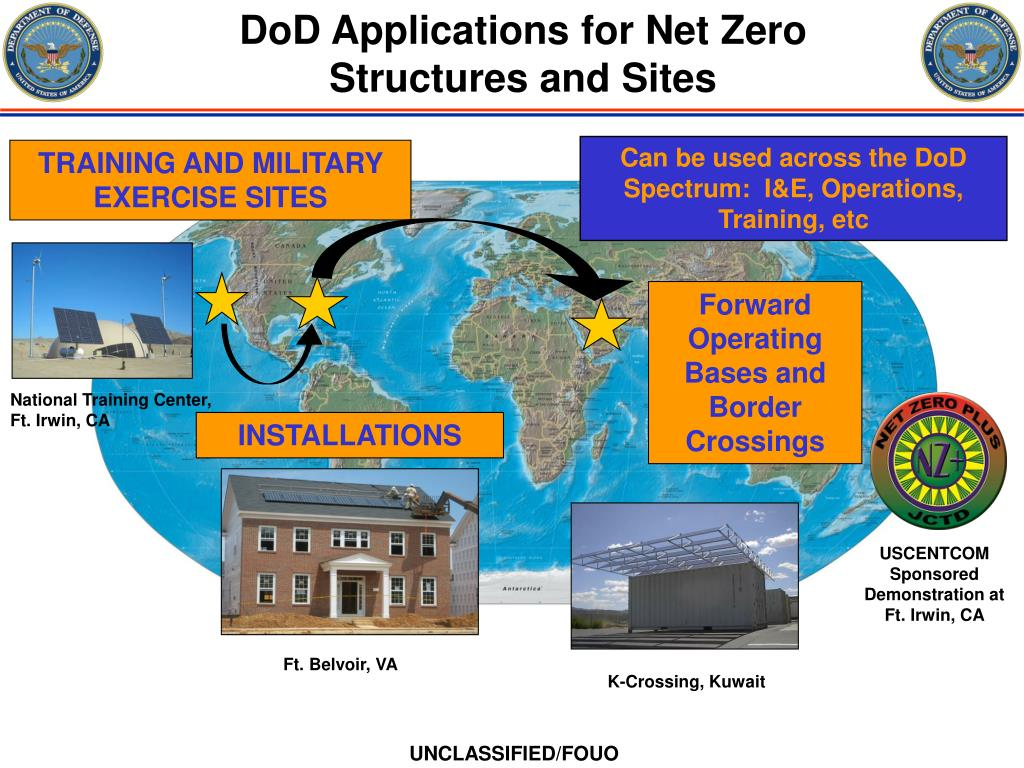 DoD Applications for Net Zero Structures and Sites