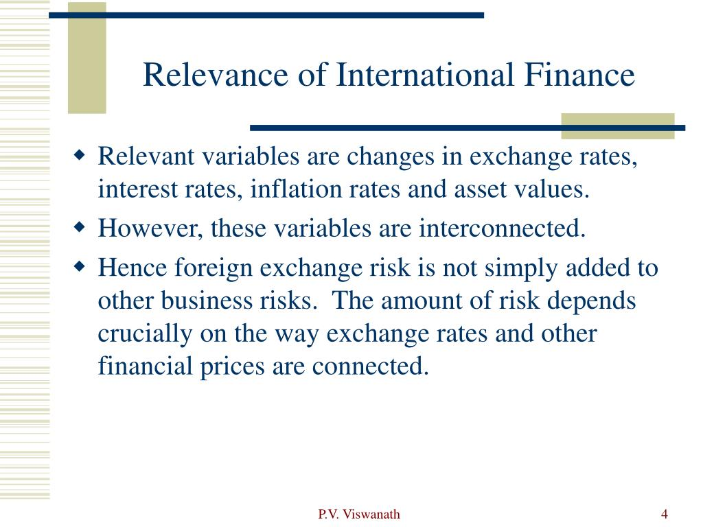 Relevance of International Finance