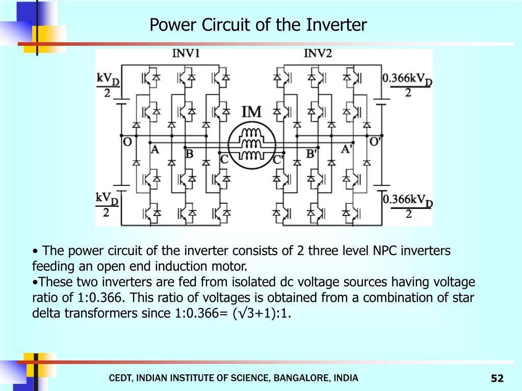 Power Circuit of the Inverter