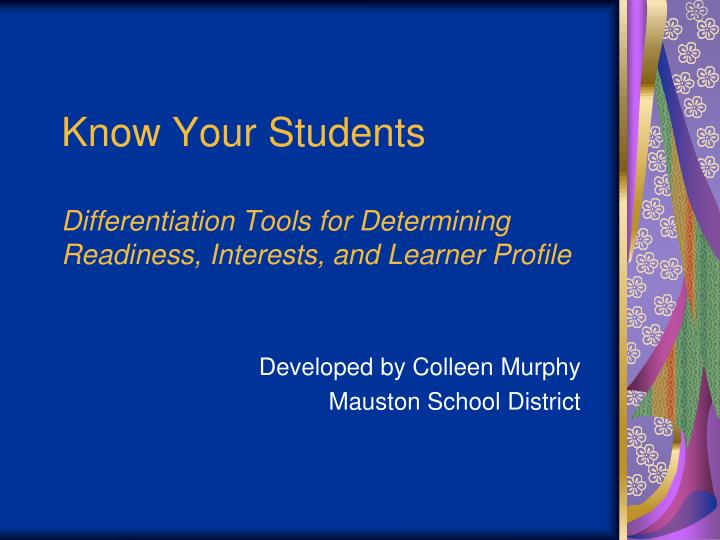 Knowing Our Students as Learners - ASCD