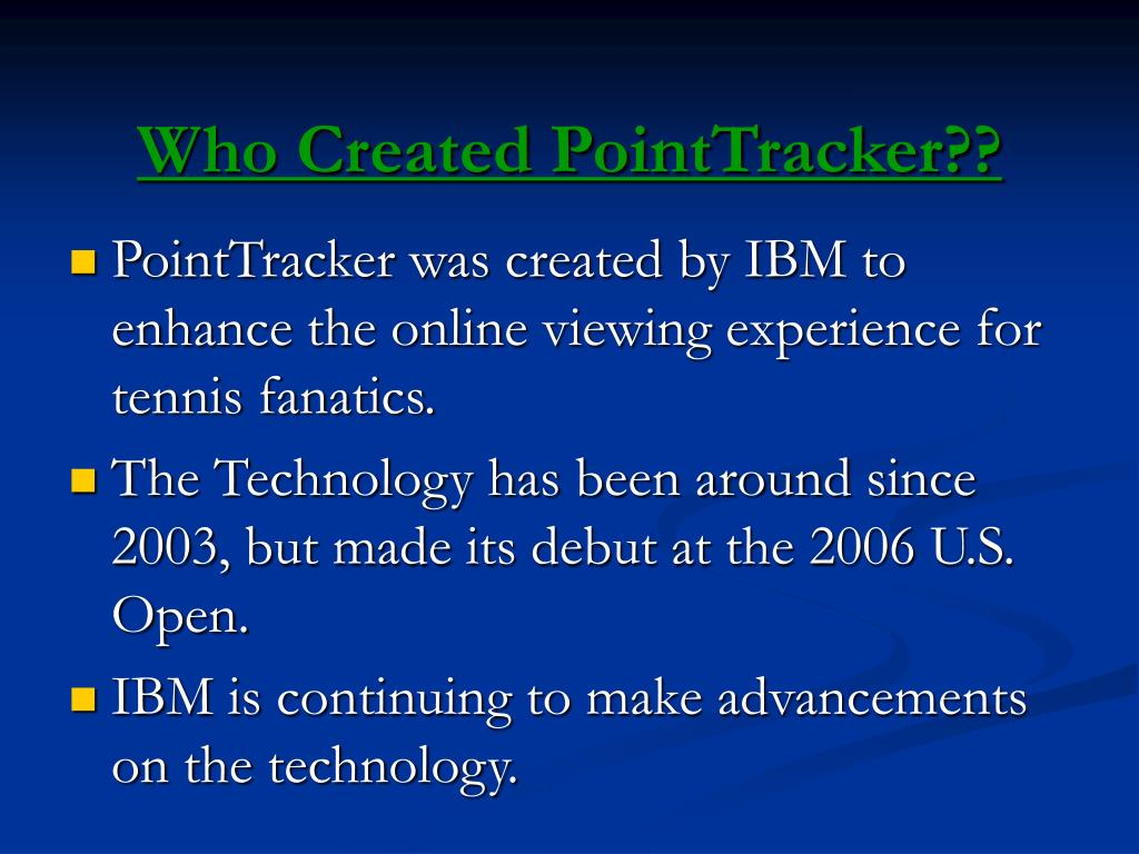 Who Created PointTracker??