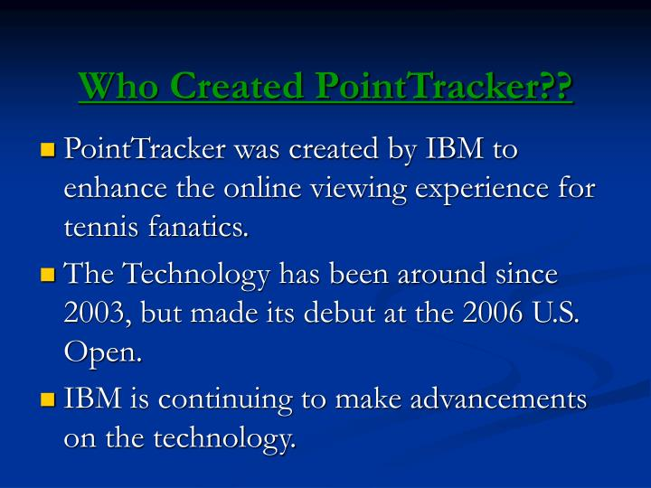 Who created pointtracker