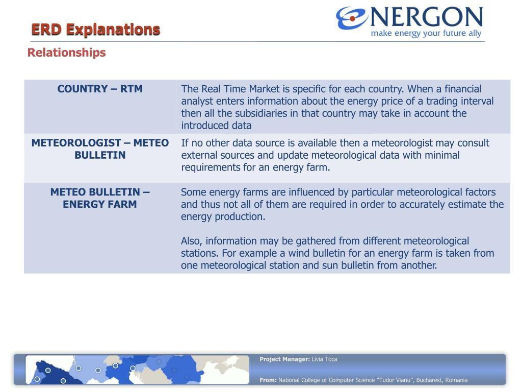 ERD Explanations