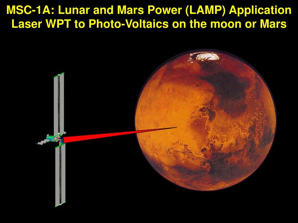 MSC-1A: Lunar and Mars Power (LAMP) Application