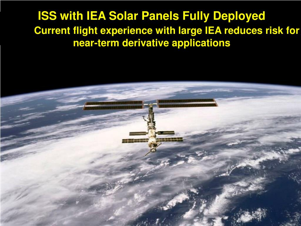 ISS with IEA Solar Panels Fully Deployed