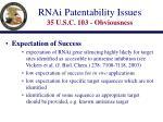 rnai patentability issues 35 u s c 103 obviousness19