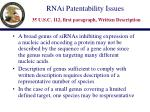 rnai patentability issues 35 u s c 112 first paragraph written description12