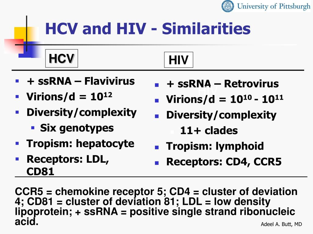 HCV and HIV - Similarities