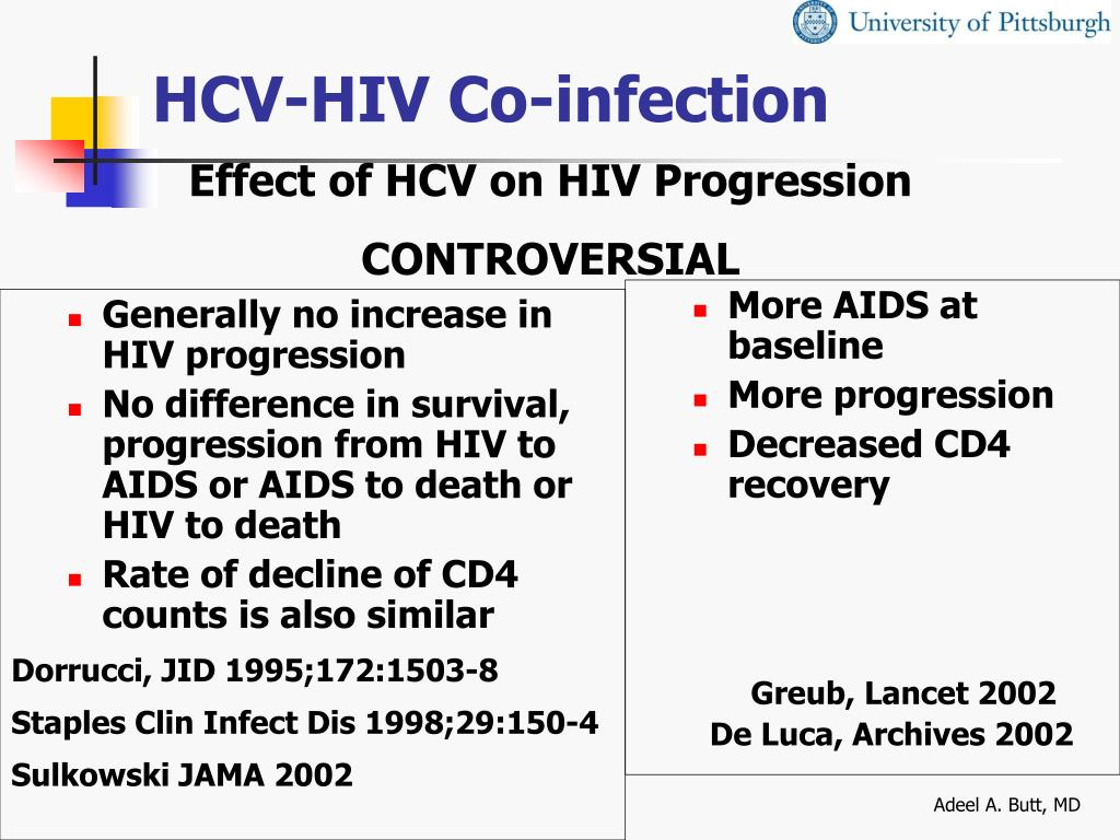 Generally no increase in HIV progression