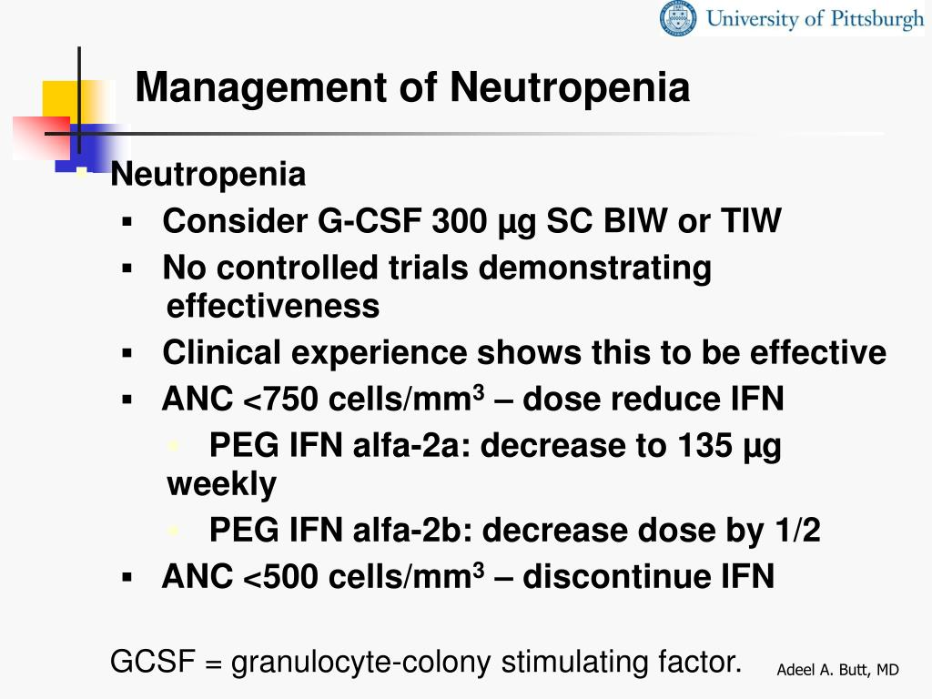 Management of Neutropenia