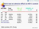 there was no adverse effect on hiv 1 control