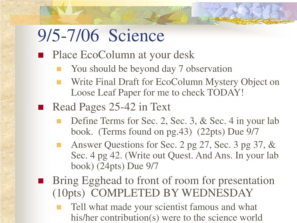 9/5-7/06  Science