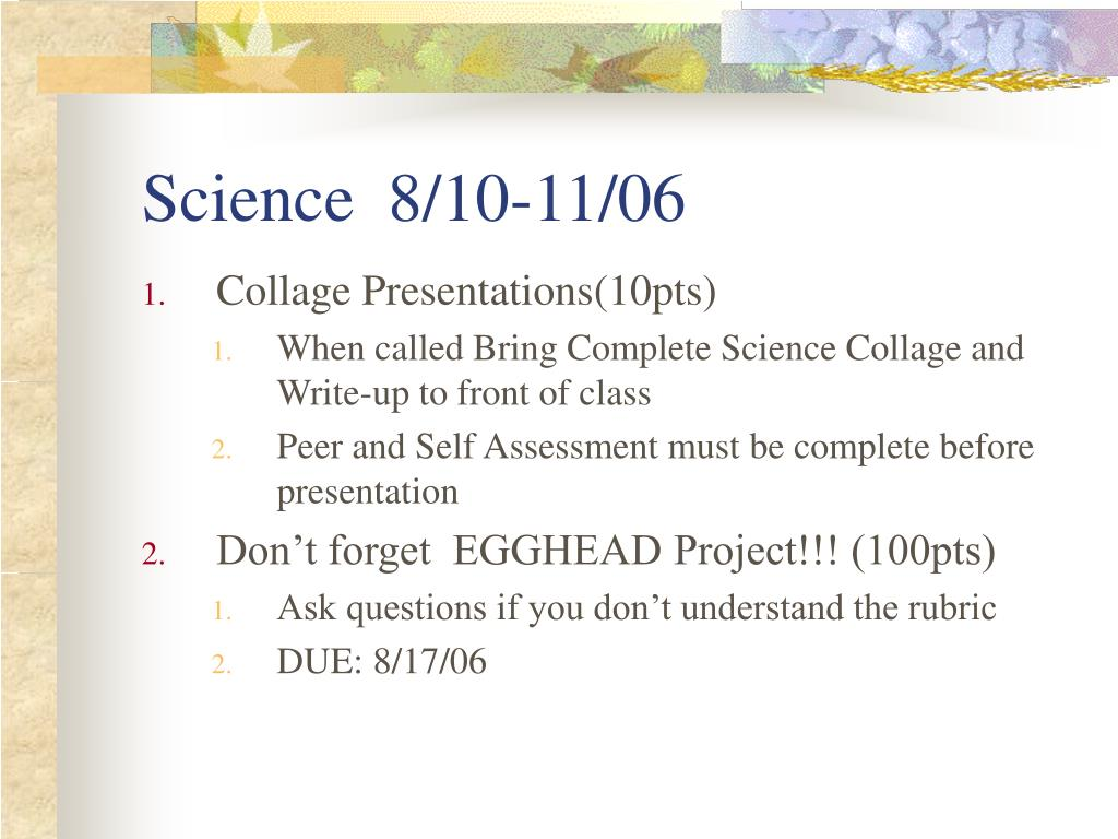 Science  8/10-11/06