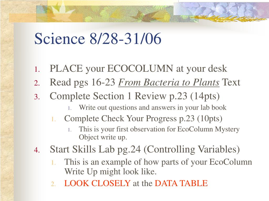 Science 8/28-31/06