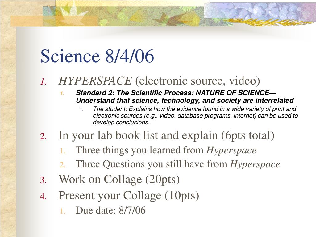 Science 8/4/06