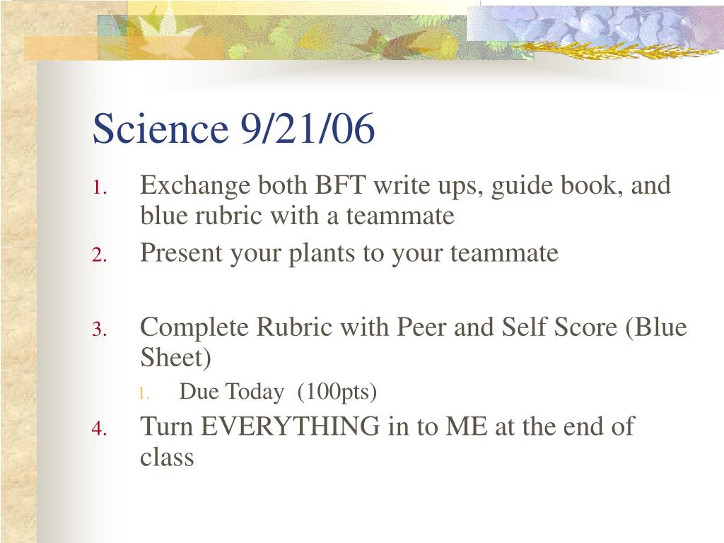 Science 9/21/06