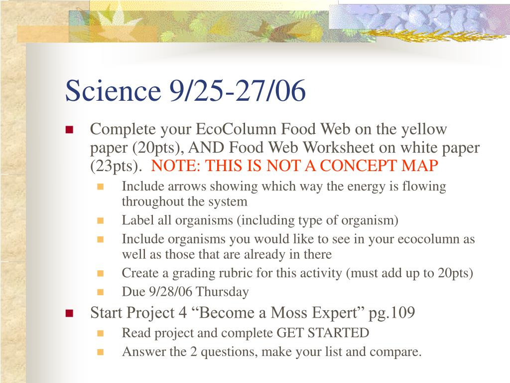 Science 9/25-27/06