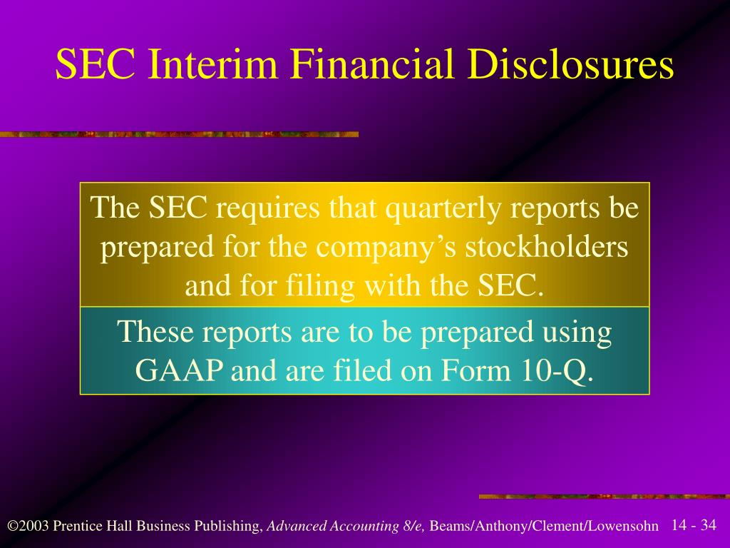interim financial information Content the disclosure requirements in ias 34 assume that users of an entity's interim financial statements will have access to the last annual financial statements of that entity therefore, the notes to the condensed interim financial statements provide.
