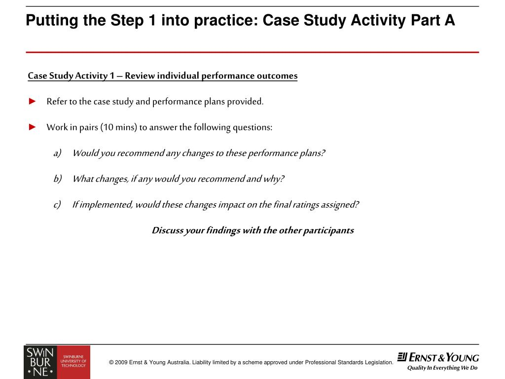 Putting the Step 1 into practice: Case Study Activity Part A