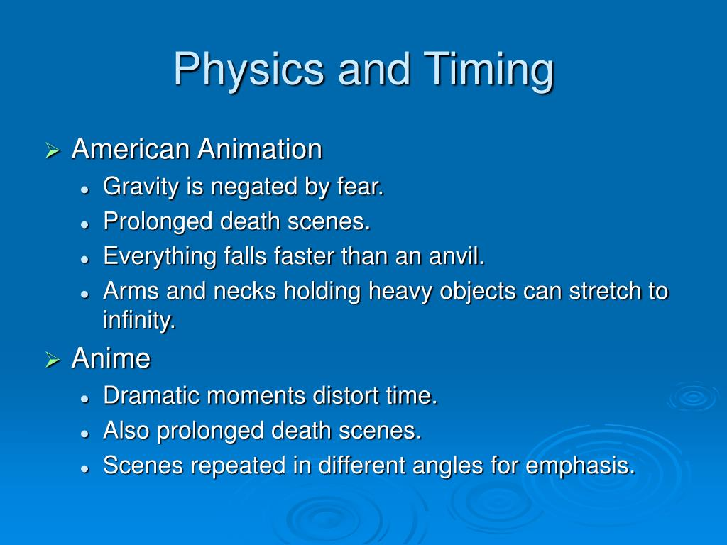 Physics and Timing