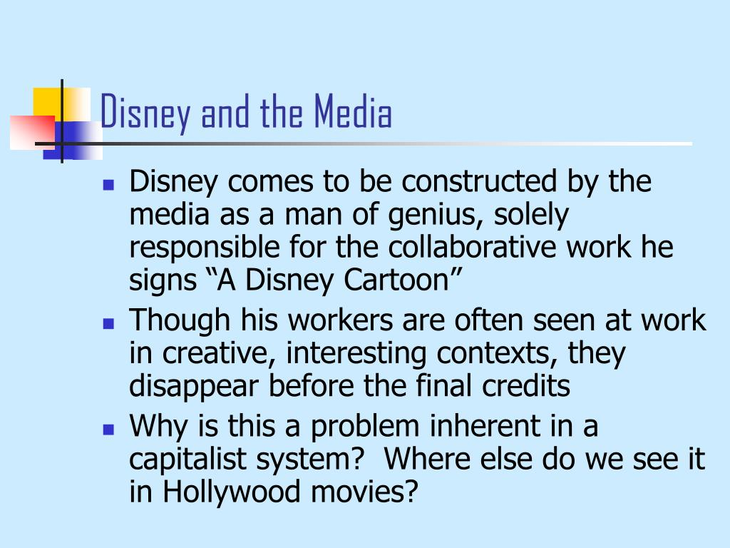 Disney and the Media