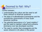 doomed to fail why