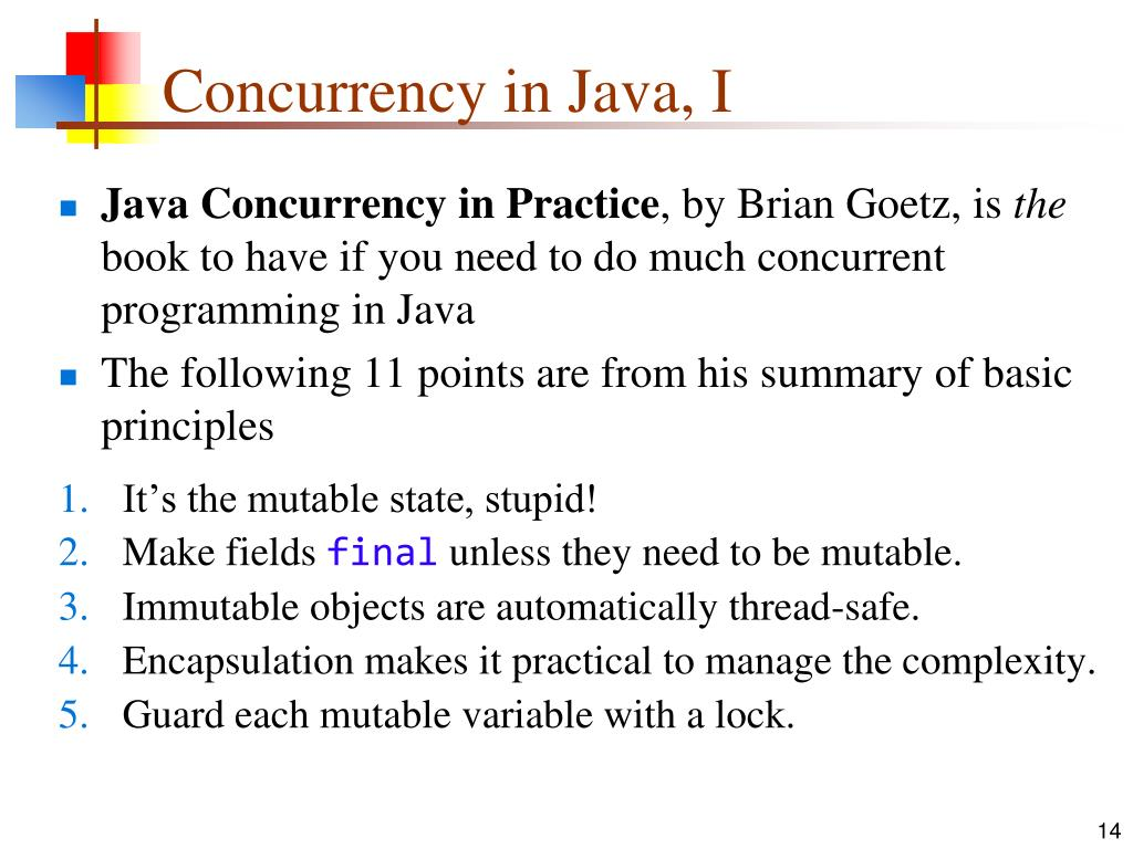 Concurrency in Java, I