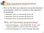why functional programming