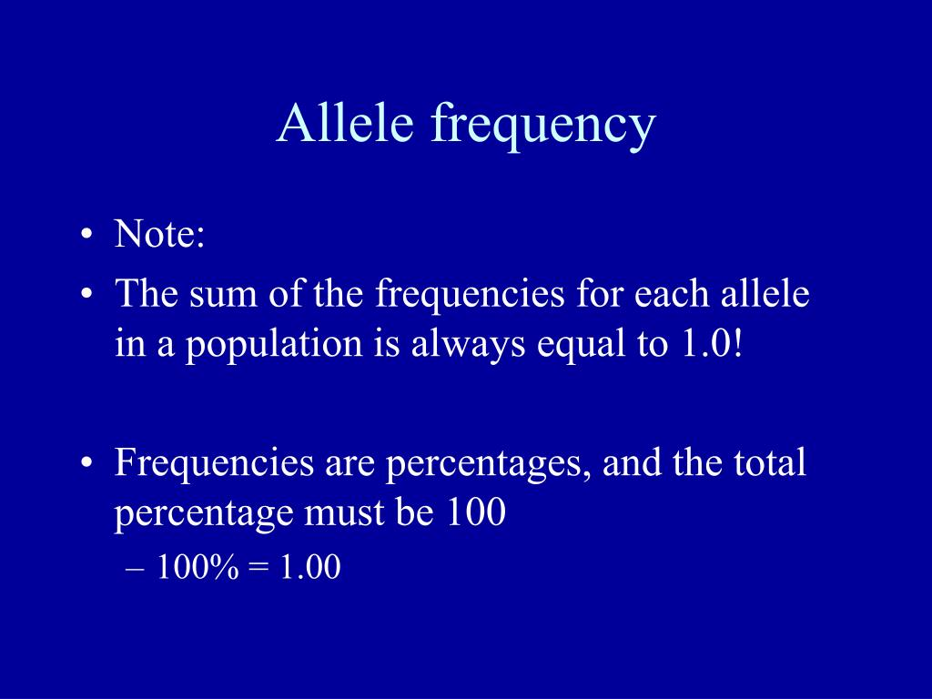 Allele frequency
