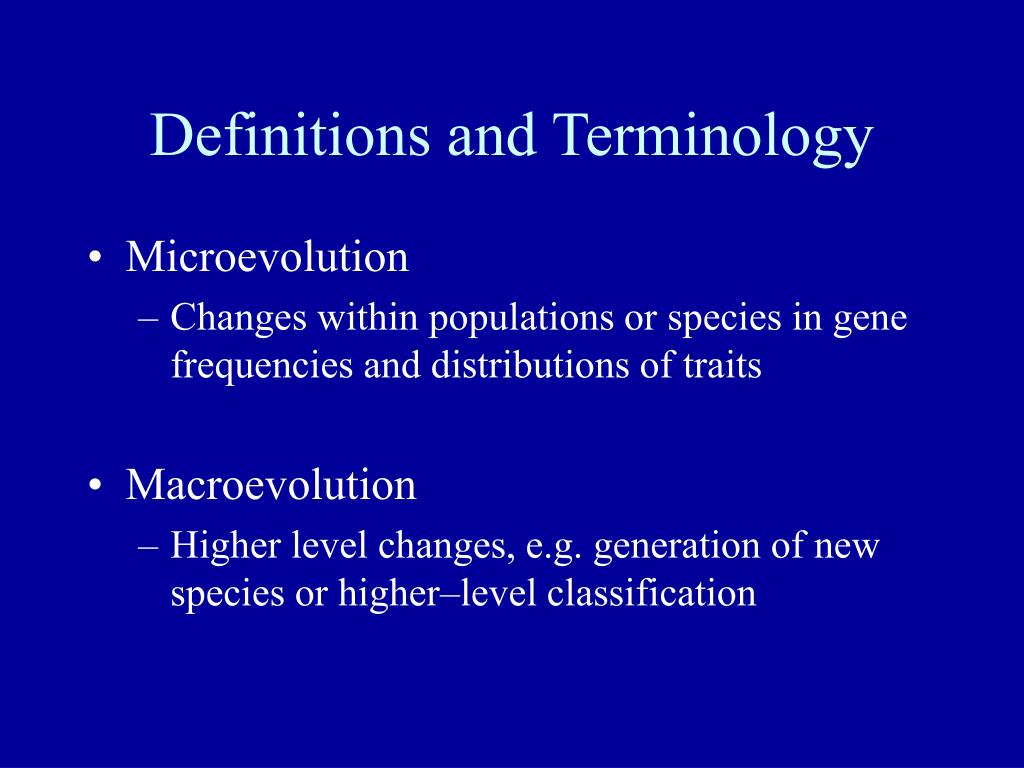 Definitions and Terminology