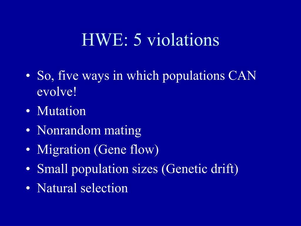 HWE: 5 violations