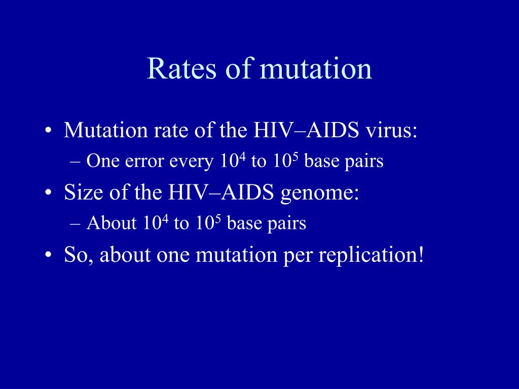 Rates of mutation