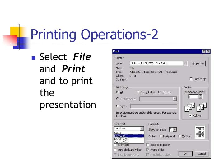 Printing Operations-2