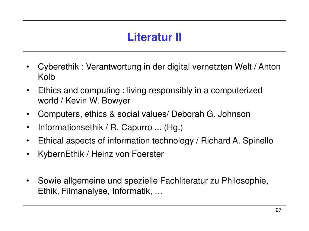 Literatur II