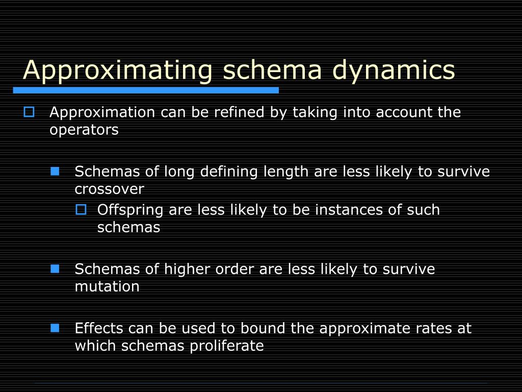 Approximating schema dynamics