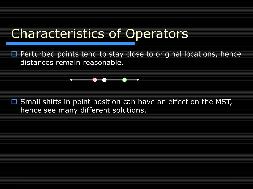 Characteristics of Operators