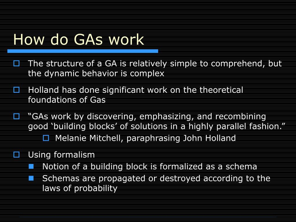 How do GAs work