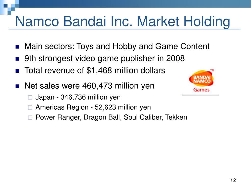 Namco Bandai Inc. Market Holding