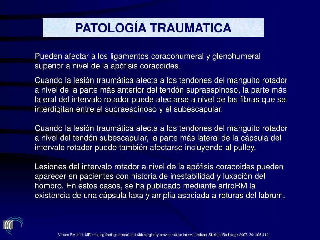 PATOLOGÍA TRAUMATICA