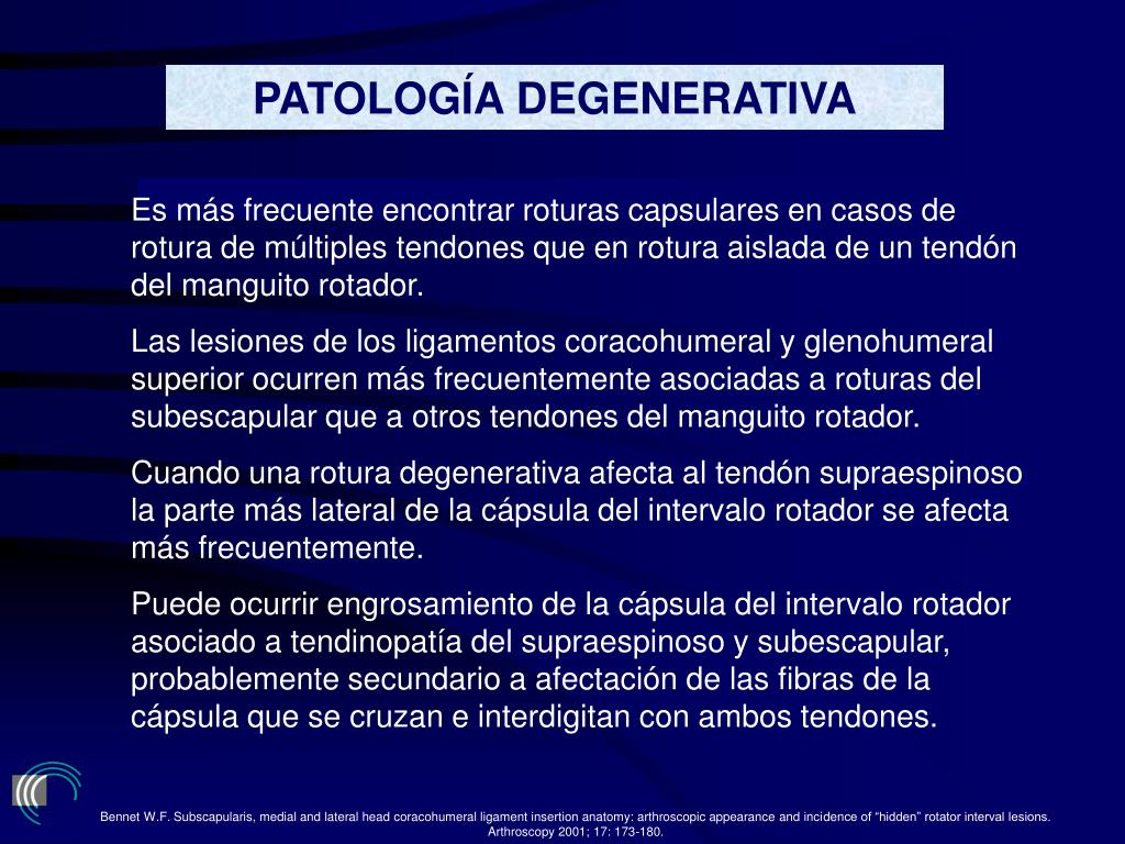 PATOLOGÍA DEGENERATIVA