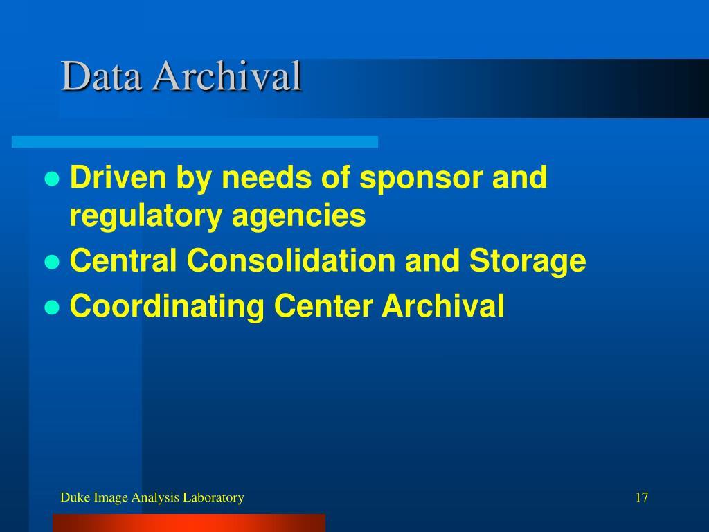Data Archival