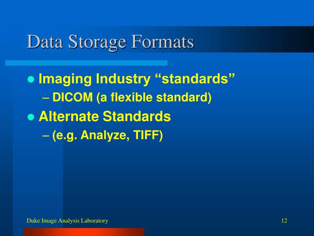 Data Storage Formats