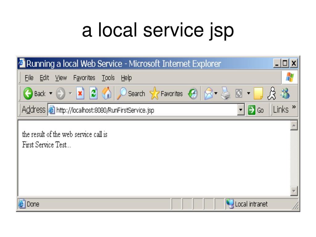 a local service jsp