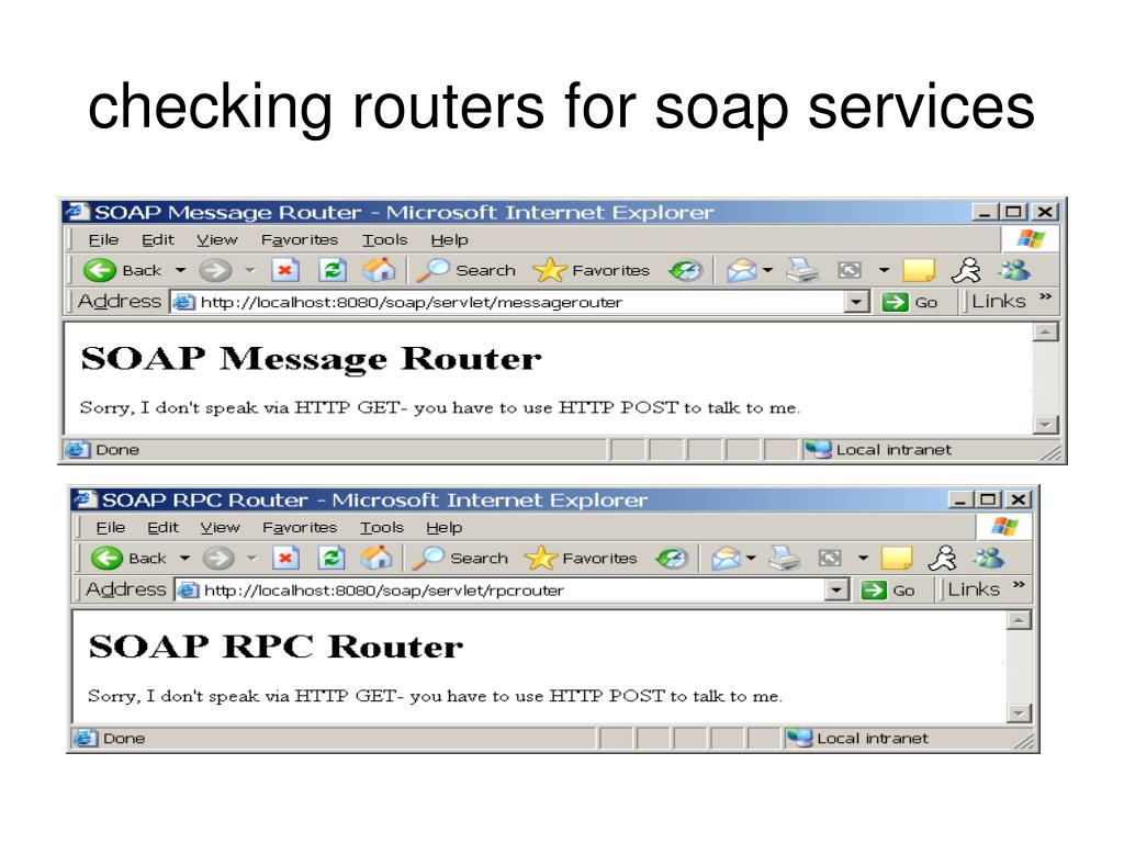 checking routers for soap services